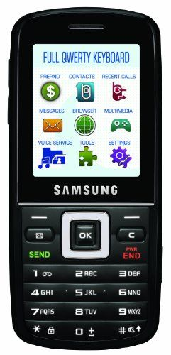 Samsung T401G Prepaid Phone (Net10) Affordable messaging phone with slide-out full QWERTY keyboard, Bluetooth, and 1.3-megapixel camera/camcorder;Display size 3.4. Pay-as-you-go with all local, long distance and roaming calls at 10 cents per minute. MP3 player; microSD memory expansion; hands-free speakerphone; 1000-contact phonebook; HTML web browser. Up to 5 hours of talk time, up to 360 hours (... #Samsung #Wireless