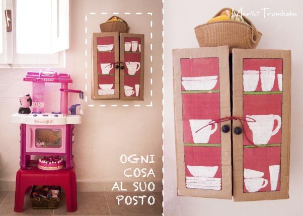 marivitrombeta_italia: Ogni cosa al suo posto---cardboard furniture for play kitchen