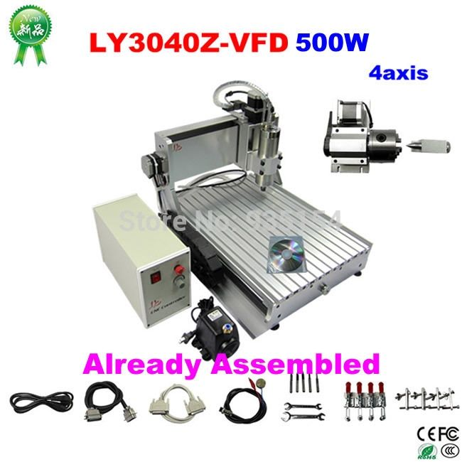 1440.00$  Watch now - http://alifx6.worldwells.pw/go.php?t=32331452036 - CNC Router CNC 3040 4 Axis 500W CNC Router Engraving Cutting Millinging Machine with Ball Screw Duty-Free Shipping From UK  1440.00$