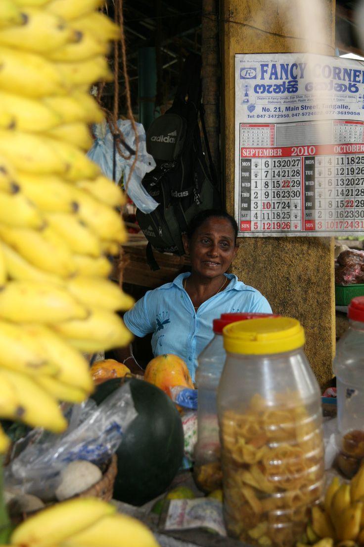 De lokale markt in Tangalle.. super kleurrijk!