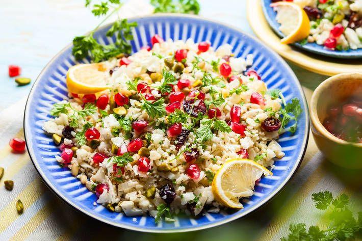 Cauliflower Tabouli with Zesty Salmon | F45 Challenge