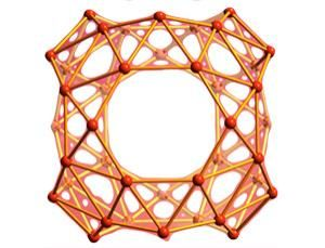 Score one for boron. For the first time, a version of the famous football-shaped buckyball has been created from boron.