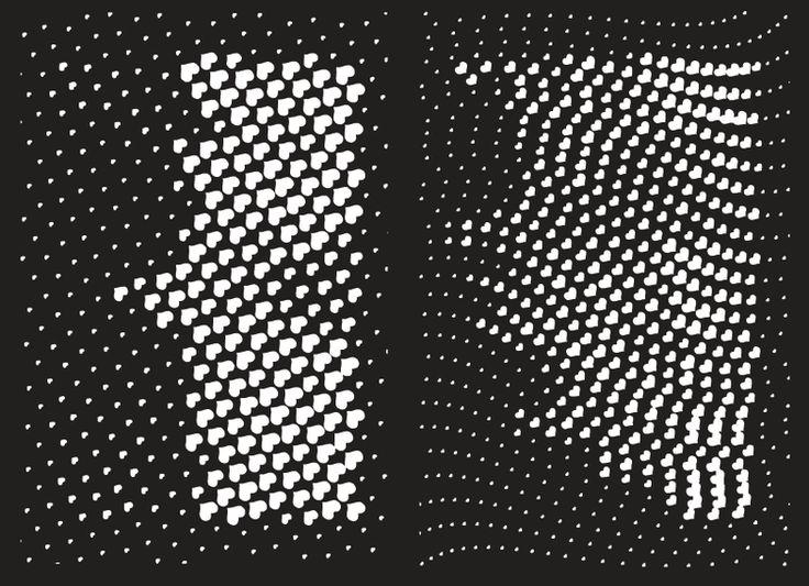 Vector Halftone heart pattern