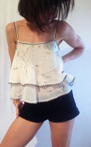 Crop top romantic white di Victoria Avenue su DaWanda.com