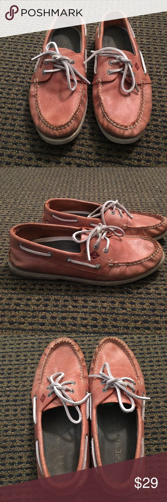 10 Sperry Top-Sider Special Edition Boat Shoe Purchased at a Sperry Pre-Sale Convention. Salmon colored. Very comfortable. Good condition. (Worn, but well taken care of) Sperry Shoes Boat Shoes