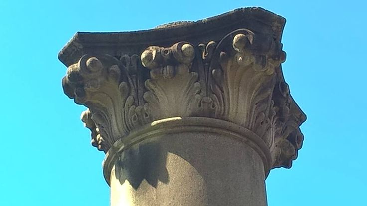 Top of the Granite column by the river. beautiful detail.