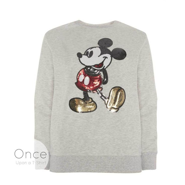 PRIMARK Official DISNEY MICKEY MOUSE Sequin Jumper Sweatshirt