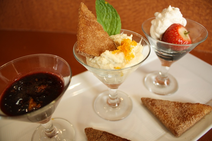 This Dessert Trio was served during Table for Two at Panache Dining Center.