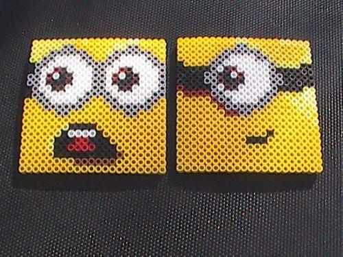 Perler Bead Minion Coasters by angelferret