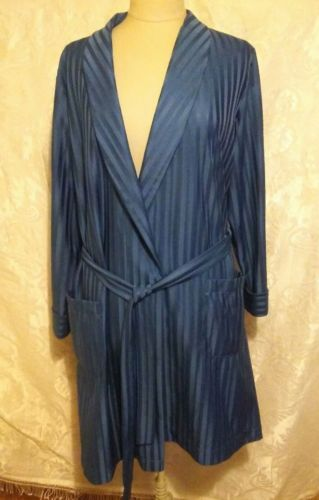 Mens Vintage St Michael S Ms Dressing Gown Robe Blue Medium