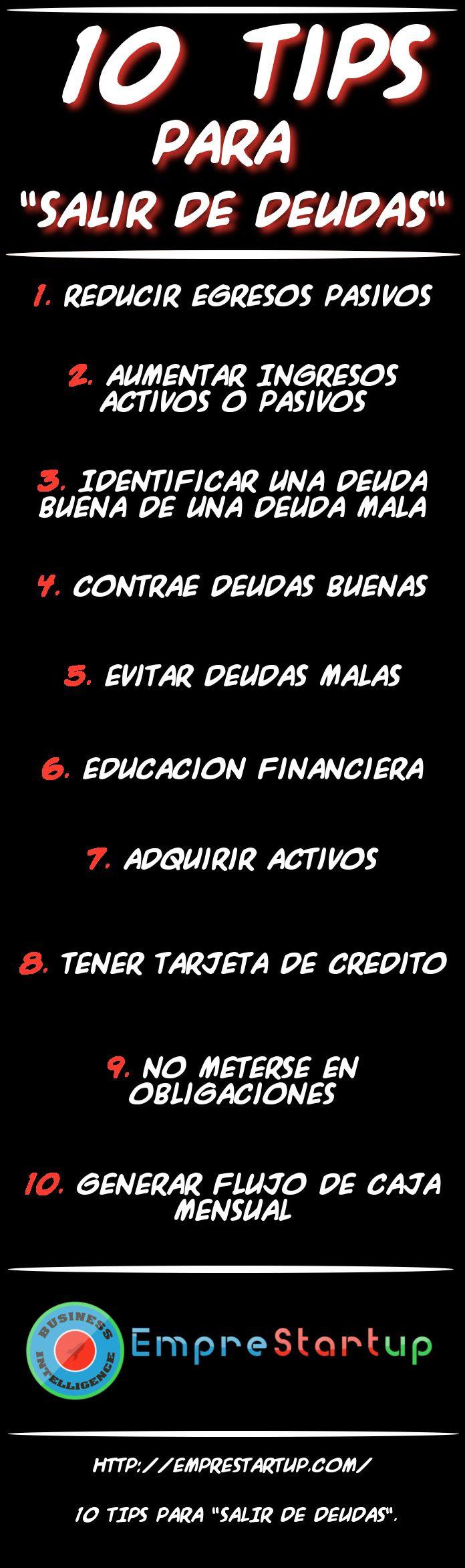 ¿Quiere olvidarse de las deudas?; Entonces implemente estos 10 Tips para salir de deudas. #Finanzas #Deudas