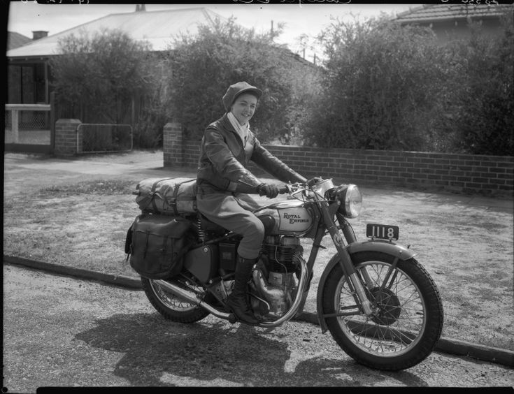234703PD: Winifred Wells before her journey across Australia, 19 December 1950 https://encore.slwa.wa.gov.au/iii/encore/record/C__Rb2293791