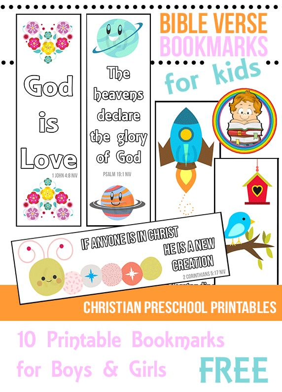 10 Printable Bible Verse Bookmarks For Kids Great For