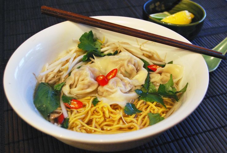 Hot & Sour Soup or Wonton Soup  A cup of one of these savory starters will only set you back about 80 to 100 calories. An added appetite-squashing attribute: research has found that if you eat a broth-based soup before a meal you end up eating less food in total.