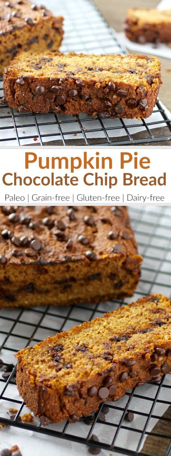 The added chocolate in this pumpkin bread will satisfy any sweet tooth and best of all, it's low in sugar. However, feel free to omit the chocolate if you'd rather this be more of a breakfast bread. Dried cranberries or cherries work well too! This Pumpki