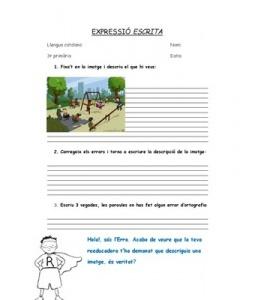 EXPRESSIÓ ESCRITA amb imatges