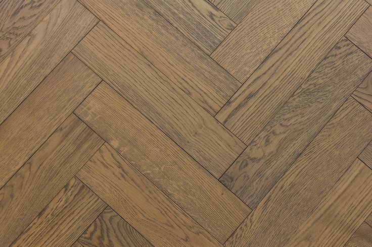 V4's herringbone wood blocks deliver modern parquet style floors. Zigzag Frozen Umber is a medium oak with rich darker grains full of character