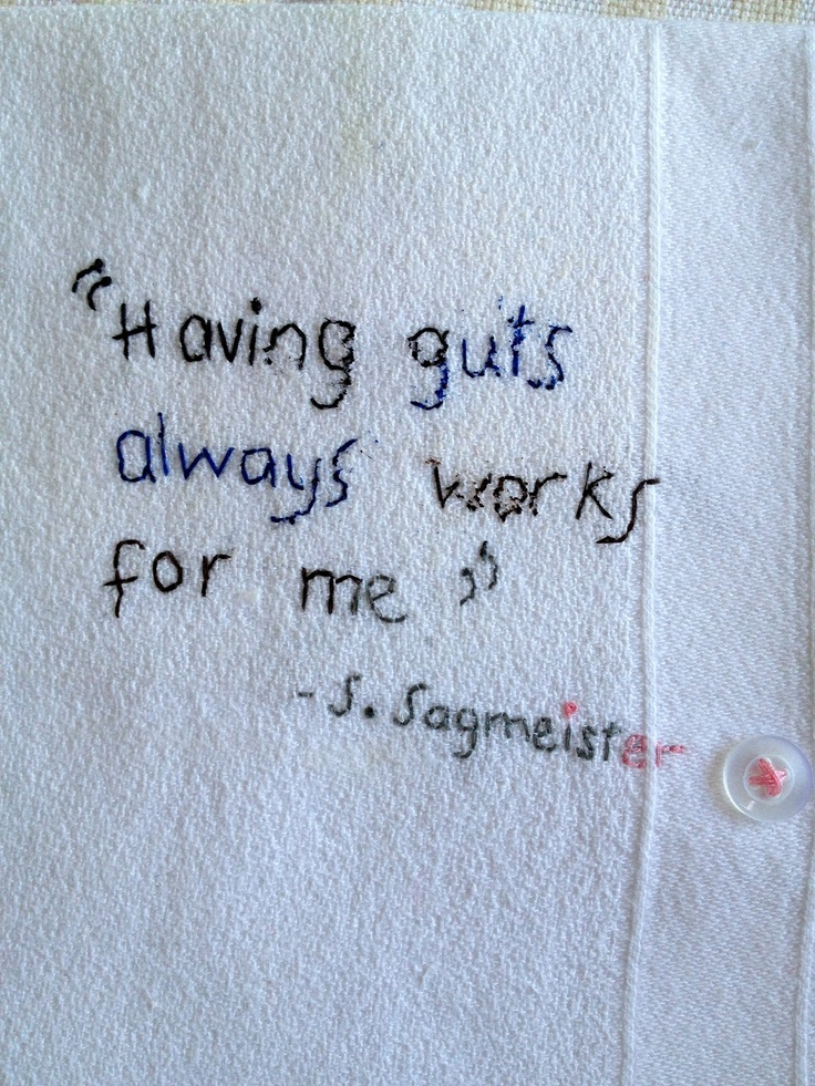 Stefan Sagmeister quote - One Bunting Away ::: Brooklyn > < Amsterdam