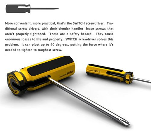 SWITCH: A Practical Tweak For Your ScrewDriver [Concept Design]