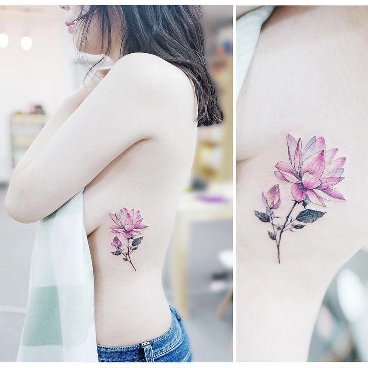 "8,933 curtidas, 31 comentários - 타투이스트 바늘 (@tattooist_banul) no Instagram: "": Lotus  연꽃 . . #tattooistbanul #tattoo #tattooing #lotus #lotustattoo #colortattoo #flowertattoo…"""