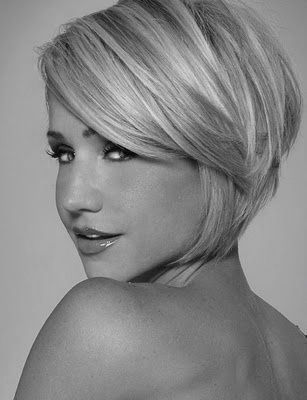 short+styles+for+women+with+thin+hair | pretty angled bob with long bangs totally would do this if my husband ...