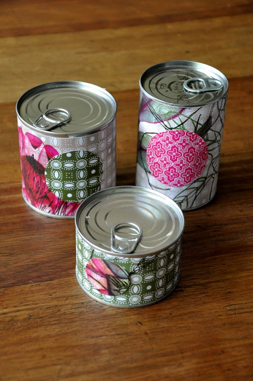 DIY gift in a can.  So cute!