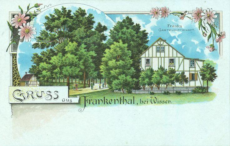 1900 ca. - Franks Gartenwirtschaft, Richtung Betzdorf - AOB
