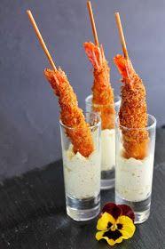 YOLANDA PINCHOLOS COOKING: Gambas crujientes con espuma de mostaza dijonaise. Receta para el concurso Maille de Canal Cocina.