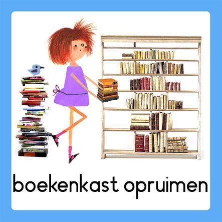 boekenkast opruimen