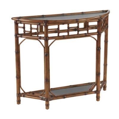 Rattan Chinoiserie Console Table