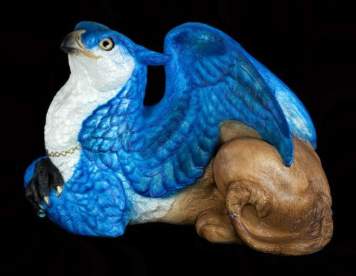 WINDSTONE-EDITIONS-034-EGYPTIAN-LAZULI-034-FEMALE-GRIFFIN-FANTASY-ANIMAL-STATUE