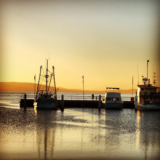 A Tasmanian sunset in Hobart, Australia. // T+L's Definitive Guide to Australia