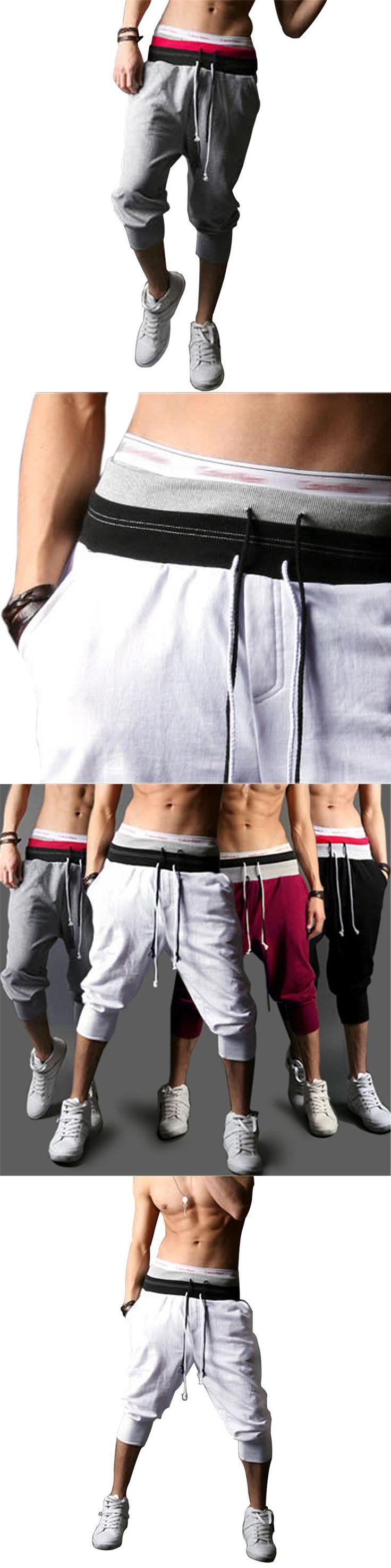 Mens Harem Capri Baggy bermuda masculina mma Shorts Cotton Blends Fitness Sweat Shorts Male Bodybuilding jogger Shorts S-XXL 10