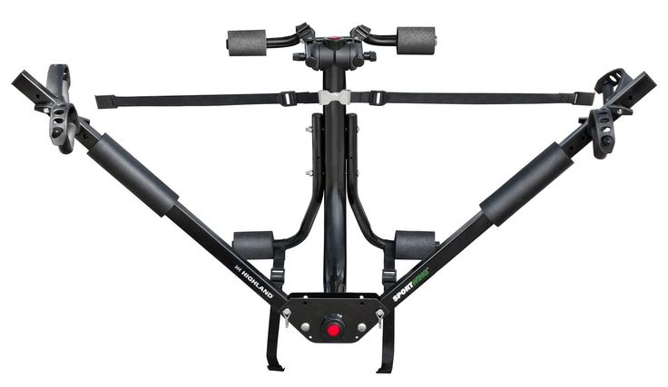 Highland (1378000) SportWing Trunk Mount Bike Rack. Holds two bikes any shape and style. Adjustable to fit both adult and children's bikes. Bikes are supported by their wheels and are held level and secure. Six straps provide stability on the road and no adapter bar needed to carry bikes without horizontal top tubes. Fits most cars, vans and SUVs without spoilers.