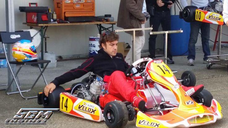 Fernando Alonso a Migliaro setup kart