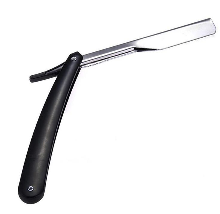 [Visit to Buy] 2016 Hot New Black Straight Edge Stainless Steel Barber Razor Folding Shaving Shave Knife  New #Advertisement