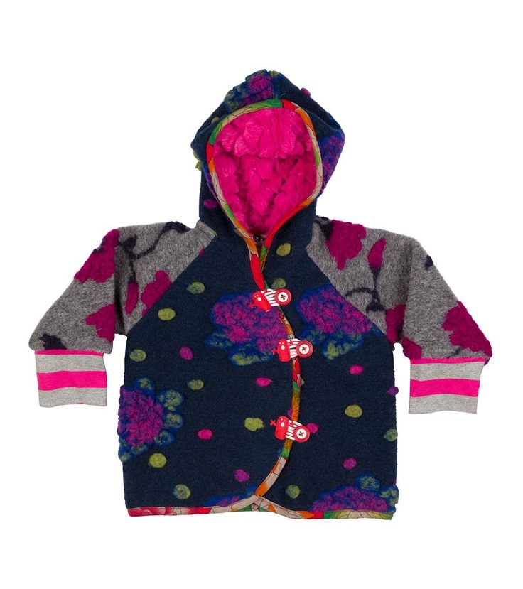 Candy Love Hearts Jacket, Oishi-m Clothing for kids, Winter 2016, www.oishi-m.com