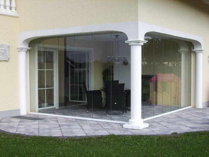 Glasfaltwand für Terrasse! #Faltwand #Terrasse #Sunflex