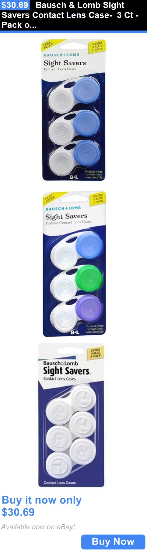 Contact Lens Cases: Bausch And Lomb Sight Savers Contact Lens Case- 3 Ct - Pack Of 6 BUY IT NOW ONLY: $30.69