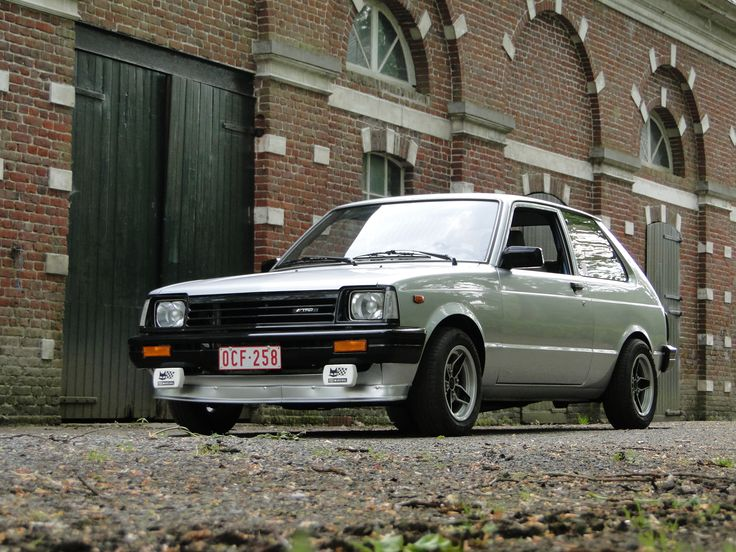 Toyota starlet-my first car was very similar to this, but she was gold and awesome!