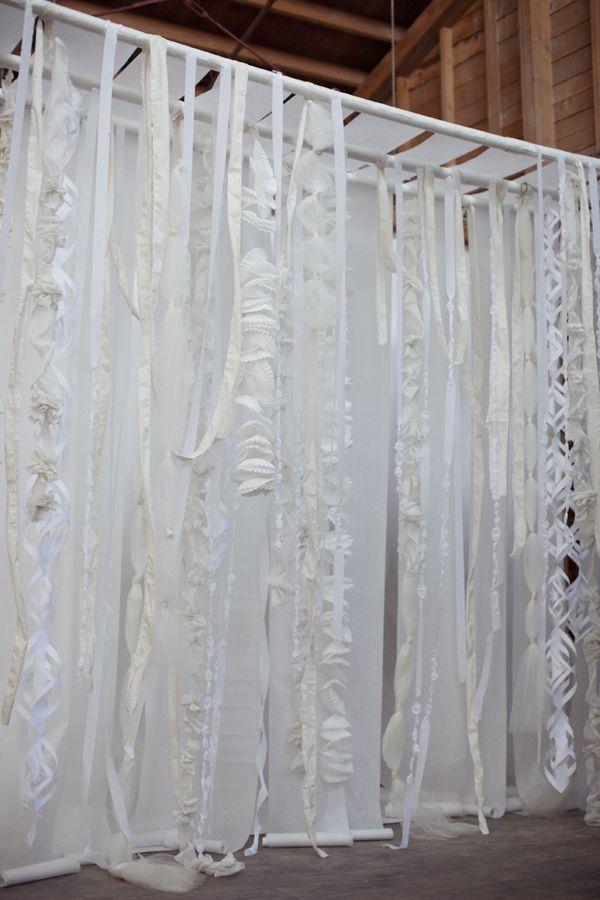 DIY Wonderland Decorations: Photos Booths, Toilets Paper, Wedding Backdrops, Shower Curtains, Backdrops Ideas, Coffe Filters, Photos Backdrops, Backdrops Storage, Parchment Paper