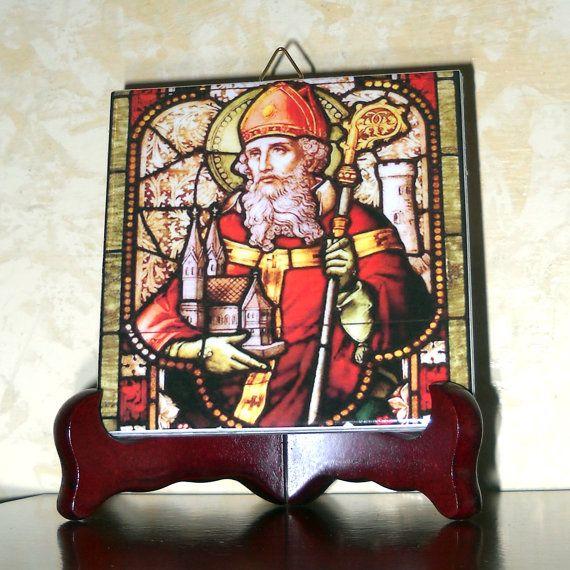 Saint Patrick di piastrelle di ceramica Irlanda di TerryTiles2014