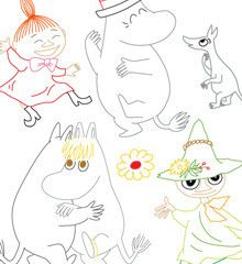 MOOMIN / Dance Party - Embroidery Patterns