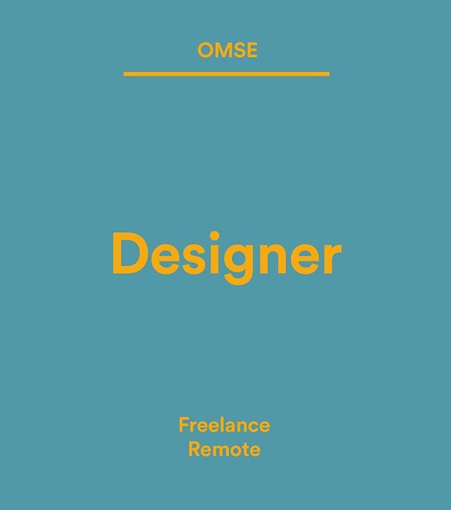 Wethemakersjobs Omse Co Is Hiring We Re Omse A Small Design Agency Based In London Fields Just Putting The Feelers Out Fo Hello Design Creative Jobs Job