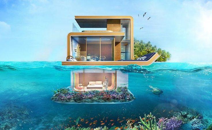 Proyecto de arquitectura, casas submarinas en Dubai