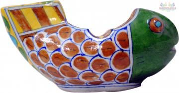 A unique ceramic Ashtray designed with multicolor in the shape of a Fish. It is decorative and practical. The perfect gift for the right person! It features creative design.  A great addition to anyone's ashtray or mid century modern collection. No chips or cracks in good condition, feels smooth, can be  a great decoration.