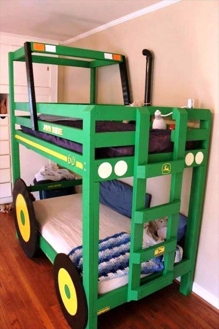 John Deere Bunk Bed Kit : Best pallet bunk beds ideas on pinterest small