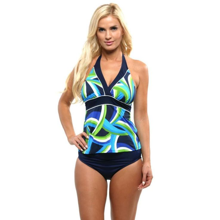 Miraclesuit Women's Blue Navy 2 Pc Set Curves Tankini Set Size 10 #Miraclesuit #Tankini