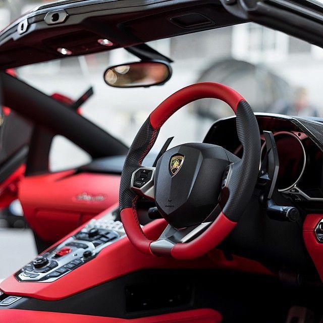 Lamborghini Rose Red Interior U2022 Via @the.golden.lifestyle