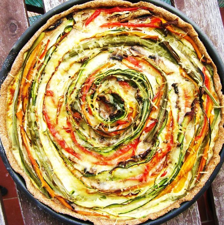 Exquisito Vegetariano!: Quiche multicolor de verduras